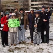 VA Greens winter 2004 protest Bush agenda