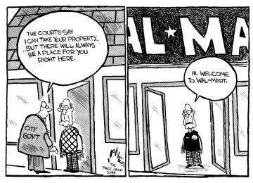 Clay Jones Walmart Cartoon 6/27/05